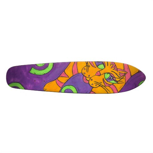 Leaping Cat skateboard