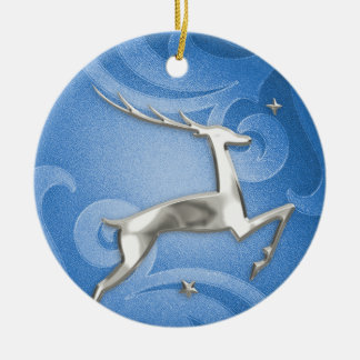 Leaping Deer Christmas Ornament