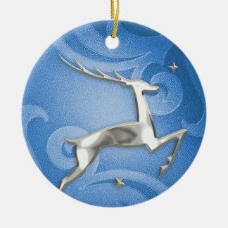 Leaping Deer Christmas Ornament