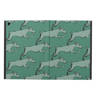 Leaping dog design iPad air cases