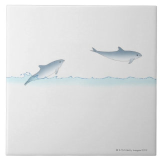 Leaping Dolphin Tile