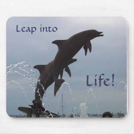 Leaping dolphins mouse mat