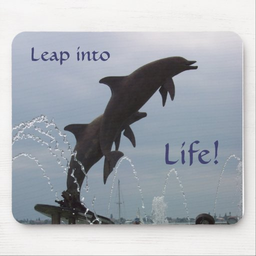 Leaping dolphins mouse pads