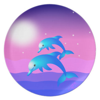 Leaping Dolphins Plate