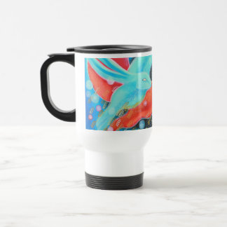 Leaping Fox with Hare. Travel Mug
