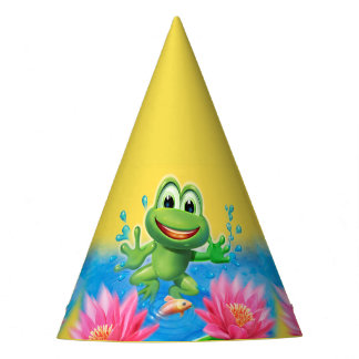 Leaping Frog birthday party fun hat