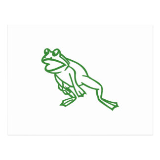 Leaping Frog Outline Postcard