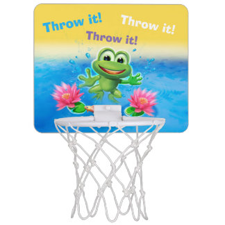 Leaping frog party mini basketball net mini basketball hoop