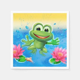 Leaping Frog party serviette Disposable Serviette