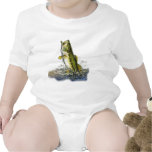 Leaping largemouth bass baby bodysuit