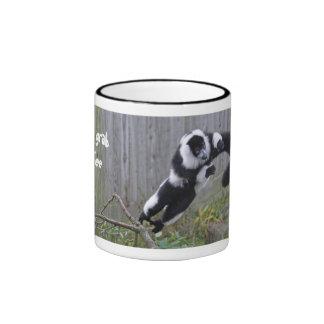 Leaping lemur mug