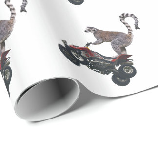 Leaping Lemur Wrapping Paper (choose colour)