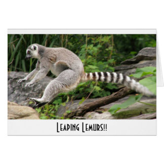 Leaping Lemurs!! Card