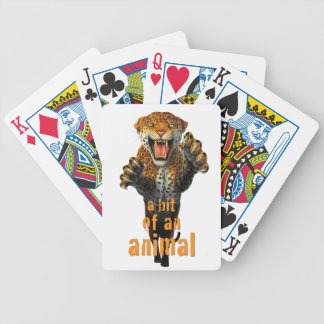 Leaping leopard - a bit of an animal bicycle playing cards
