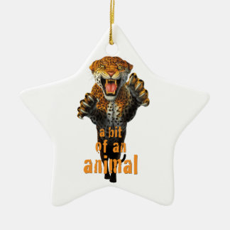 Leaping leopard - a bit of an animal christmas ornament