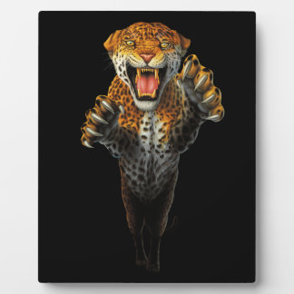 Leaping Leopard - a bit of an animal Plaque