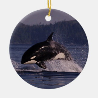 Leaping Orca Christmas Ornament