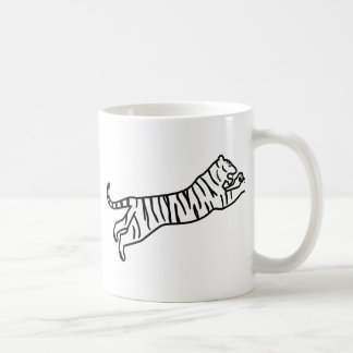 Leaping/Pouncing/Attacking Tiger Line Art Coffee Mug