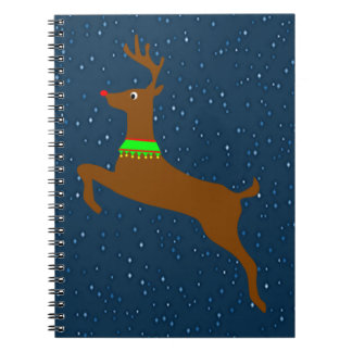 Leaping The Red Nose Reindeer Notebooks