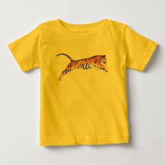 Leaping Tiger Baby T-Shirt