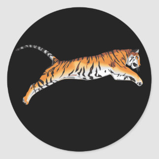 Leaping Tiger Classic Round Sticker