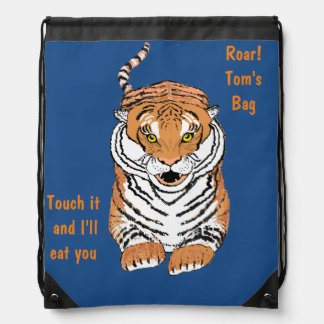 Leaping Tiger Drawstring Backbacks Drawstring Backpack
