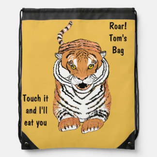 Leaping Tiger Drawstring Backbacks Drawstring Bag