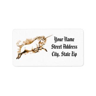 Leaping Unicorn Label