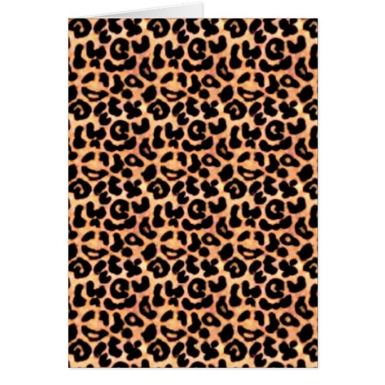 Leapord Print, Animal Print Card