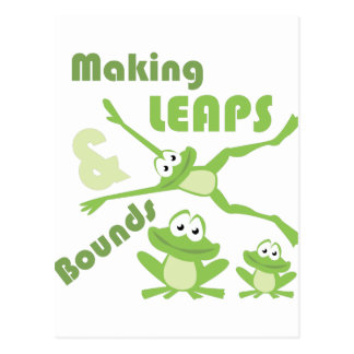 Leaps & Bounds Postcard