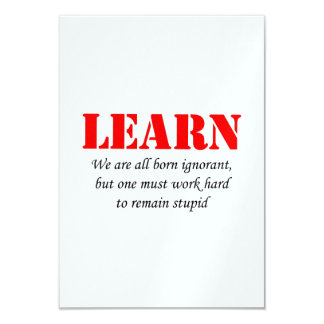 Learn 9 Cm X 13 Cm Invitation Card
