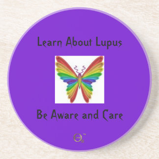 Learn About Lupus - Be Aware and Care Drink Coaster