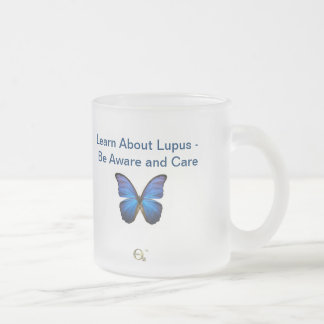 Learn About Lupus - Be Aware and Care Frosted Glass Mug