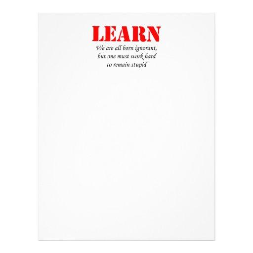 Learn Full Color Flyer