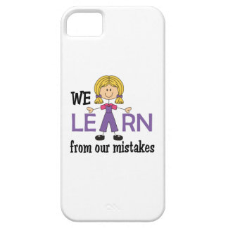 LEARN FROM MISTAKES iPhone 5 COVER