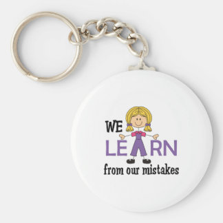 LEARN FROM MISTAKES KEYCHAINS