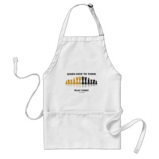 Learn How To Think Play Chess (Chess Attitude) Standard Apron