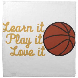 Learn It Basketball Printed Napkins