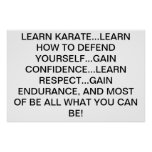 LEARN KARATE! POSTER