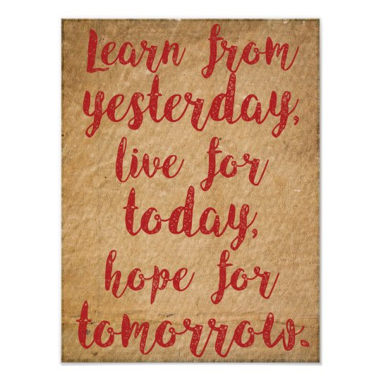Learn, live and hope - Life quote wisdom