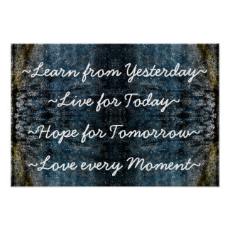 Learn Live Hope Love wall poster