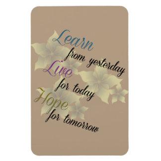 Learn Live Hope Rectangular Photo Magnet