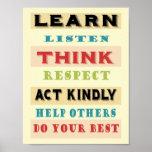 Learn Teachers Educational Poster