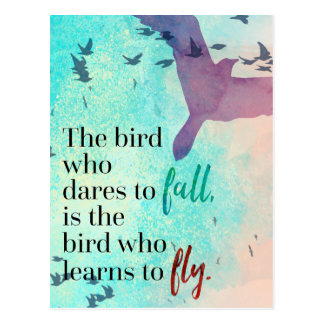 Learn To Fly Quote Postcard