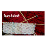 Learn to Knit Business Card Template
