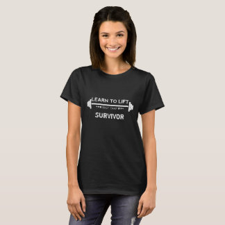 Learn to Lift Ladies Bootcamp - Survivor Black T-Shirt