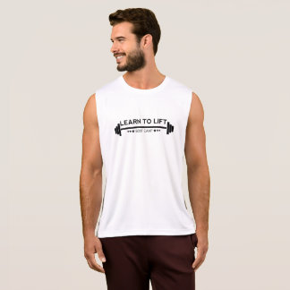 Learn to Lift Mens Bootcamp - Vest Black Tank Top