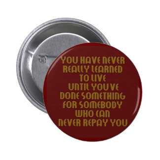 learn to live collection 6 cm round badge