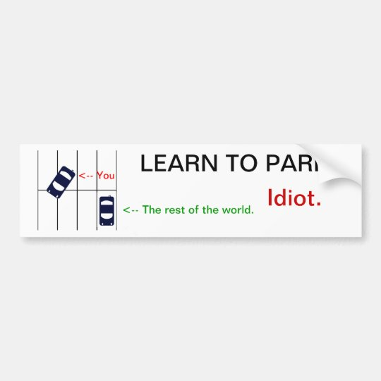 Learn to PARK Bumper Sticker