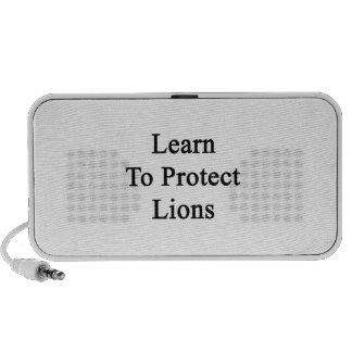 Learn To Protect Lions Mini Speakers